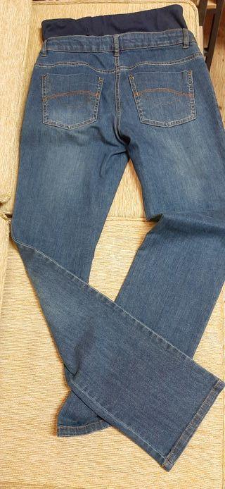 pantalón vaquero premamá talla 38 un solo uso