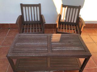 Conjunto jardin sillones y mesa