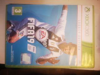 XBOX 360 +3 mandos+FIFA 19+3juevos mas