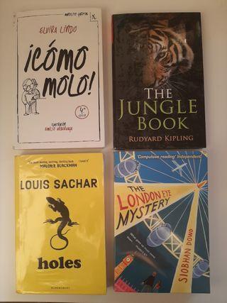 Lote de cuatro libros en buen estado