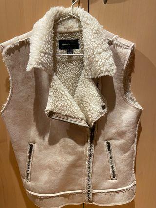 Chaleco ante y lana beige