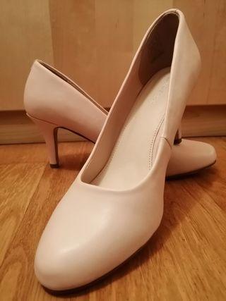 zapatos tacón rosas