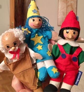 Marionetas para dedos Pinocho