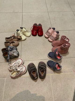 Lote 9 zapatos niña