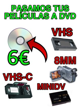 SE PASAN CINTAS DE VIDEO CAMARA A DVD
