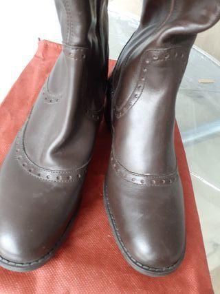 botas marrones piel NUEVAS
