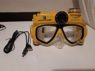 gafas de snorkel con cámara digital
