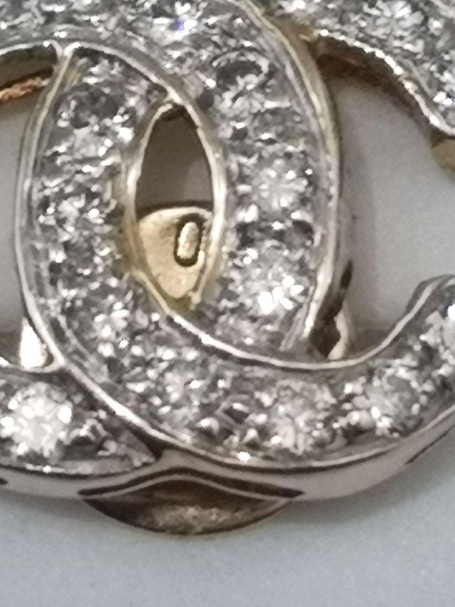 Pendientes Estilo Chanel Oro18k Diamantes