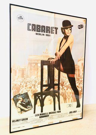 Cartel de cine antiguo Cabaret