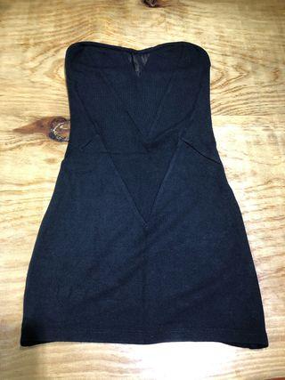 Talla S vestido negro ceñido Bershka ropa mujer
