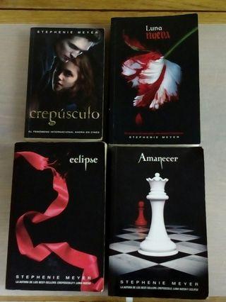 Saga Crepúsculo 4 libros.