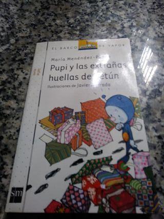 libro Pupi y las extrañas huellas de betún