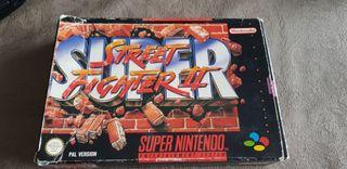 caja super street fighter 2 super nintendo