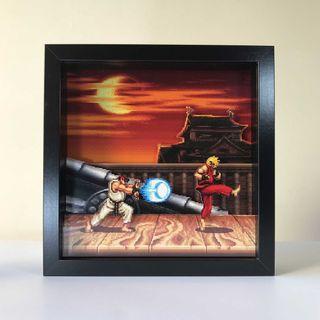Street Fighter 2,Shadowbox,PixelArt,Caja de sombra