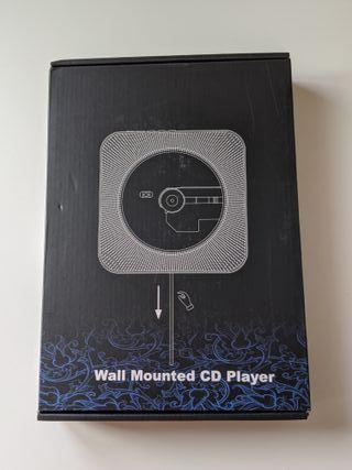 Reproductor CD Mural Bluetooth Control Remoto Radi