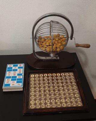 Antiguo juego de Bingo,bolas de Baquelita,Completo