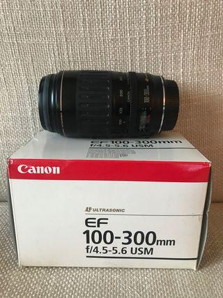 Objetivo Canon 100-300 f/4,5-5,6 USM