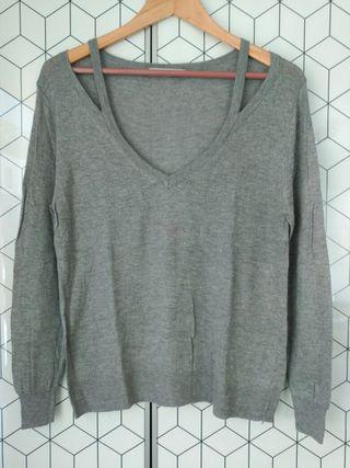 Jersey de punto gris de Zara Talla S