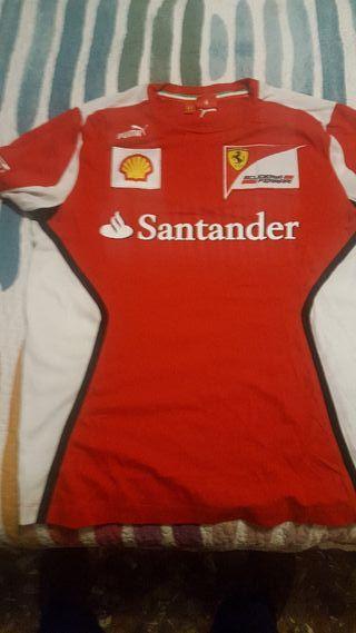 Camiseta team Ferrari.