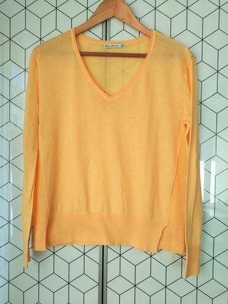 Jersey de punto amarillo claro de Zara Talla S