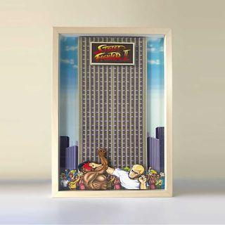 Street Fighter 2,Shadowbox,Pixel Art