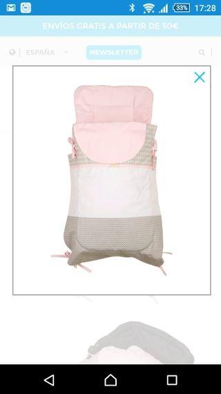 Saco capazo bebé tuc tuc slowly rosa