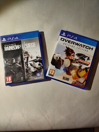 Rainbow Six Siege + Overwatch para PS4