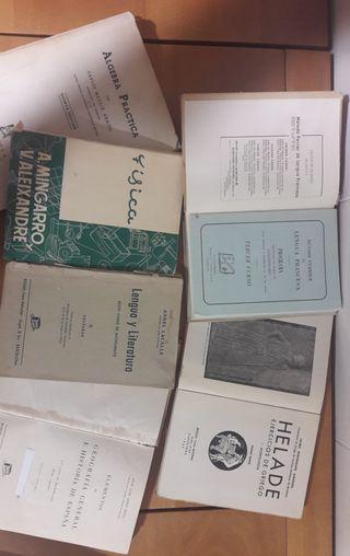 Seis libros texto Bachillerato años '40 y '50