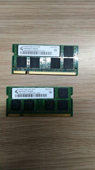 Módulos RAM 1GB