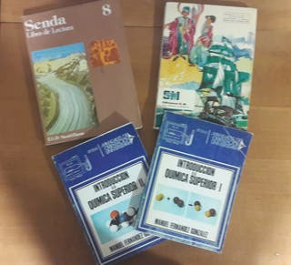 Lote 4 libros texto EGB décadas años '70 y '80