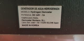 agua hidrogenada osmo star 1,8l. año 2015
