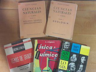 Lote cinco libros texto Bachillerato década '60