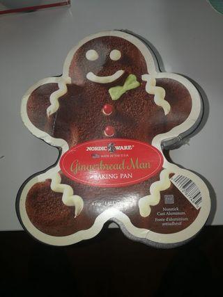 Molde Gingerbread Man Baking Pan de Nordic Ware