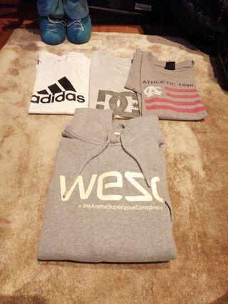 Camisetas Adidas Athletic y Dc Sudadera Wesc talla