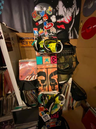 Tabla Snowboard 155 y fijaciones K2 Rocker