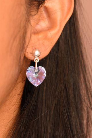 Pendientes Corazón de Cristal
