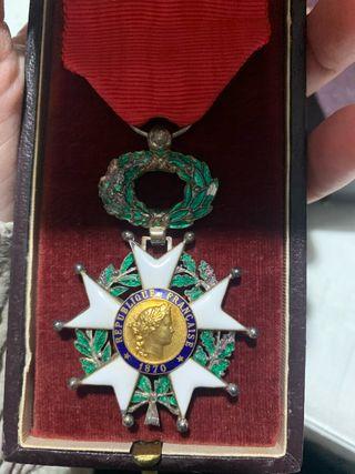 Medalla Francesa Legión de Honor Chevalier