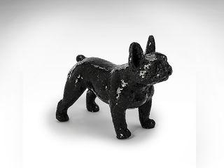 Figura decorativa Bulldog Atila cristal negro