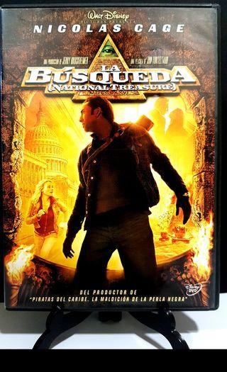 LA BÚSQUEDA NICOLÁS CAGE DVD