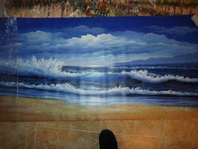 Gran ocasión, pintura al oleo. Una marina