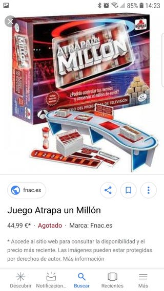 Juego mesa Atrapa un Millón NUEVO