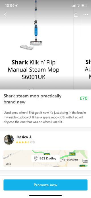 Shark steam mop basically new