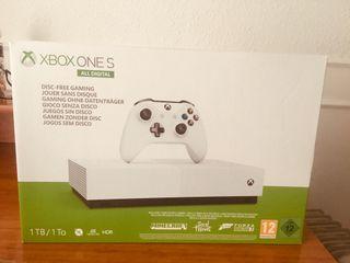 XBOX ONE S NUEVA ALL DIGITAL FIFA 20 MAS 3 .
