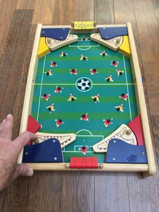 Futbolín madera tipo pinball