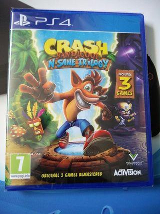 Crash Bandicoot, videojuego para PS4.