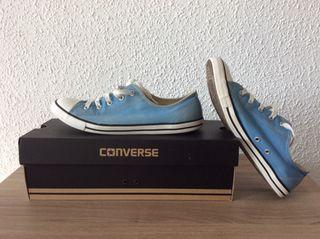 Converse azule planas T.40,5