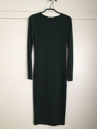 Vestido Pull&Bear Verde oscuro