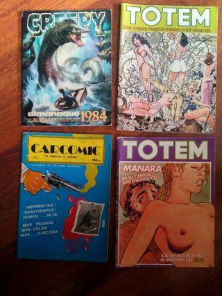 4 comics de los 80