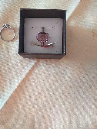 anillo plata con pedrería swarosky