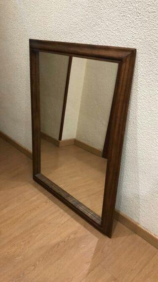 Espejo de madera maciza